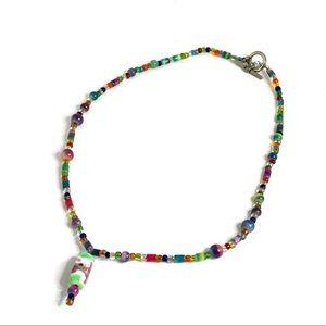 5/$25 Colorful Boho Glass Beaded Toggle Necklace